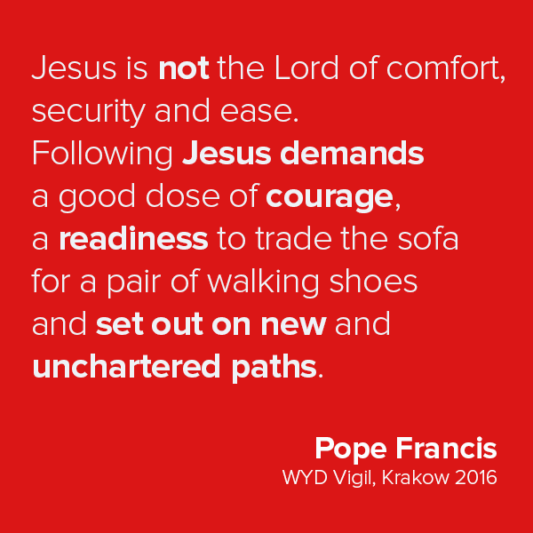 Francis quote red